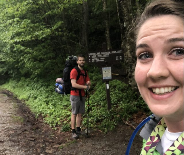 Tori was not so sure about backpacking.